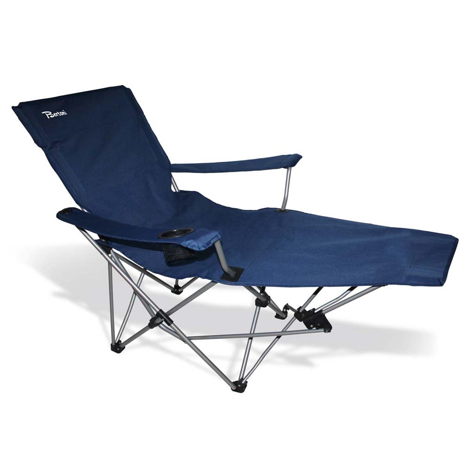 DRP Sedia sdraio Lettino Piscina Pieghevole Per spiaggia Blu Relax Ombrello Berto LGP ONLINE