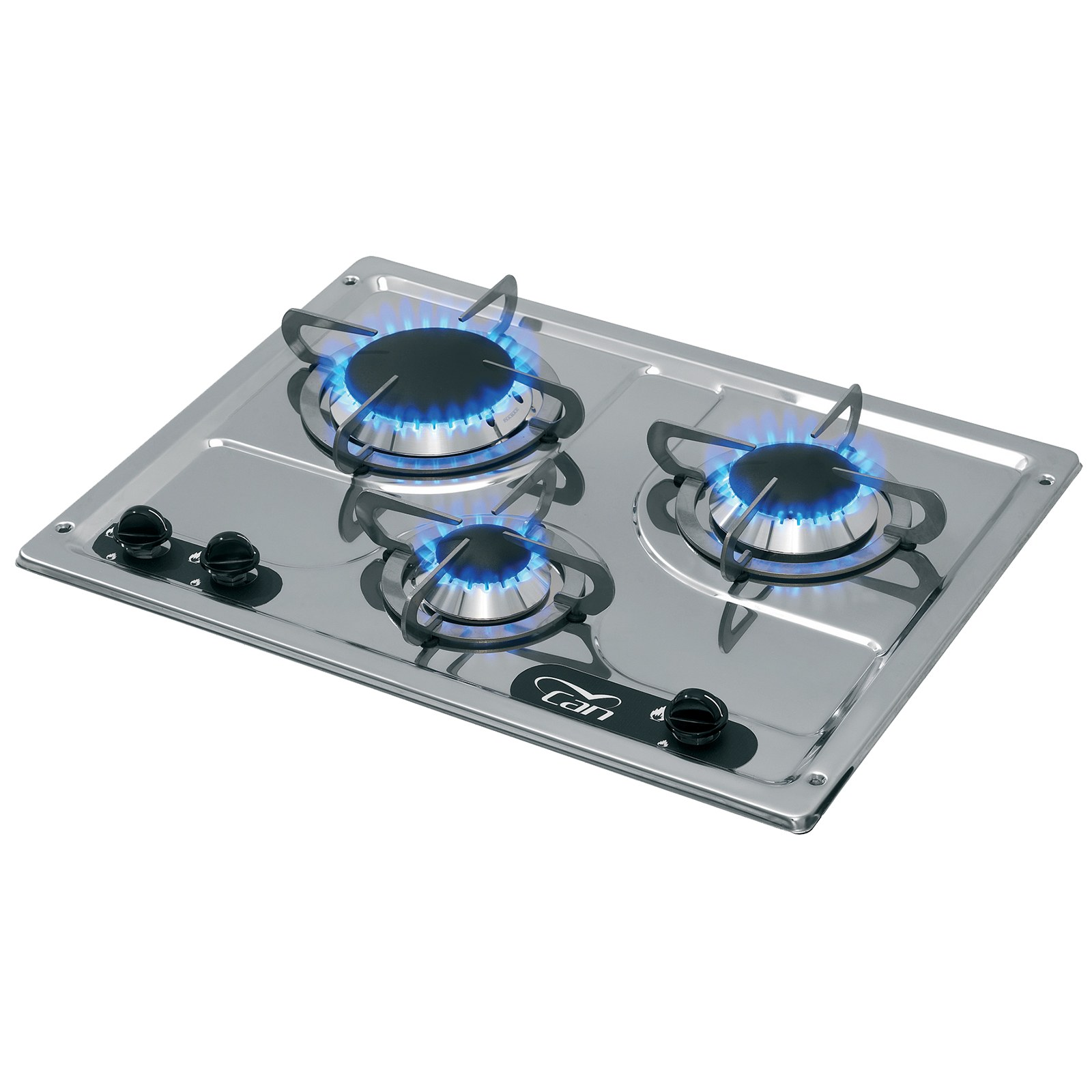 DRP1030 Piano Cottura Gas 3 Fuochi Incasso Acciaio Inox a Specchio ...