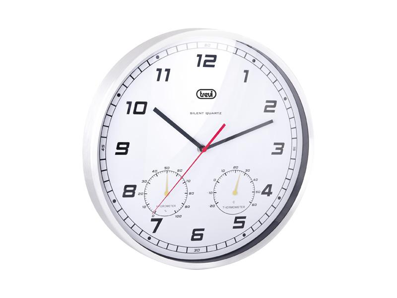 Drp30788 Orologio Da Parete A Muro 35 Cm Silenzioso Termometro Ignometro Per Cucina Trevi Lgp