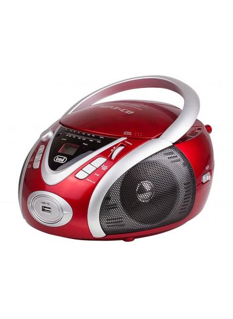 Stereo portatile Trevi Cd Mp3 Radio Cuffia Ingresso USB Rosso 220x240x130mm