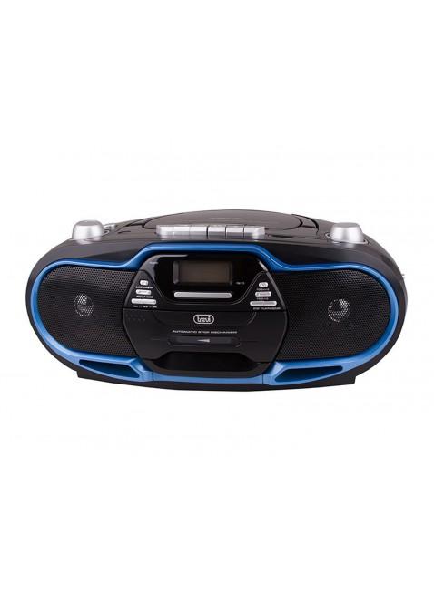 Stereo Trevi Cd Radio AM FM Mp3 Lettore cassette Player Display Nero CMP 574 USB