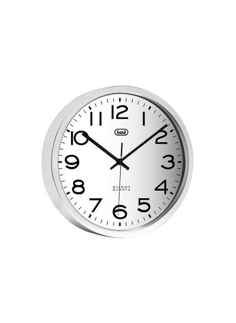 orologio da parete a muro 30 cm in acciaio movimento silenzioso per cucina trevi