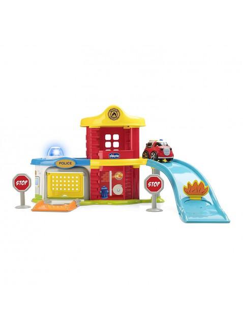 Playset Squadra di Soccorso Stazione Pompieri Vigili del Fuoco Chicco 2-6 Anni
