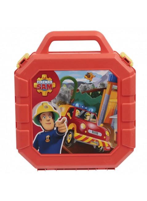 Valigetta Ponty Pandy Playset Sam il Pompiere con Caserma e Soccorso Alpino