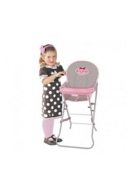 Giocheria RDF1617 Love Bebe Boutique Seggiolone Colore Rosa con Pallini Bianchi