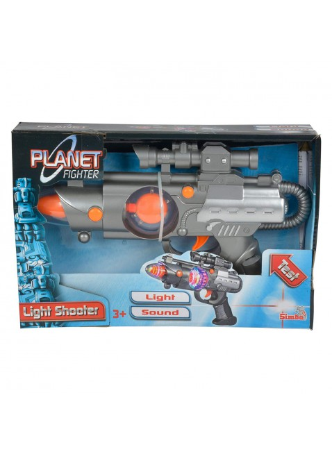 Pistola Laser Con Luci Planet Fighter Light Shooter 22 cm Simba Toys 46571