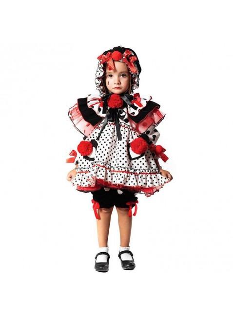 Costume Vestito Di Carnevale Pierrottina Neonata Prestige Taglia 1 Anno 51176