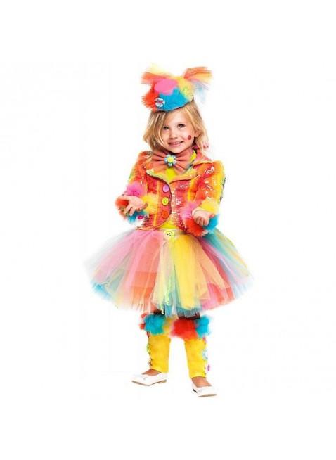 Costume Vestito Di Carnevale Pagliaccetta Prestige Neonata Taglia 2 Anni 28074