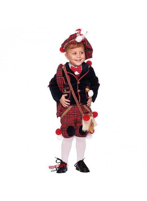 Costume Vestito Di Carnevale Scozzese Neonato Taglia 2 Anni Bimbo Bambino 50672
