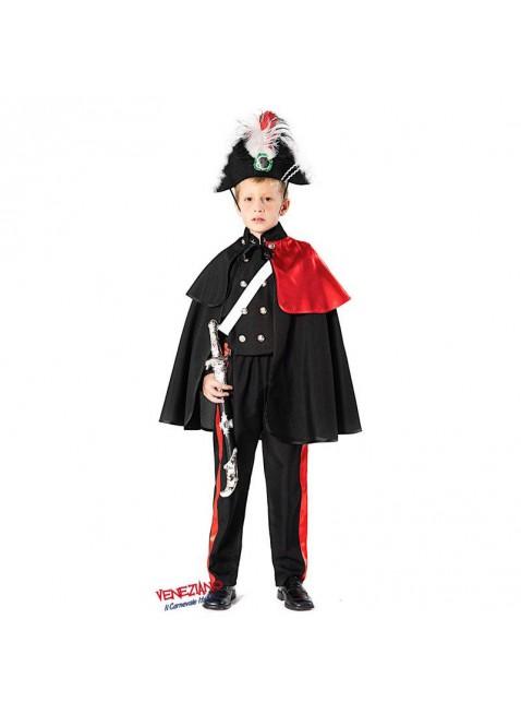 Costume Vestito di Carnevale Carabiniere Alta Uniforme Taglia 4 Anni Bimbo 51162