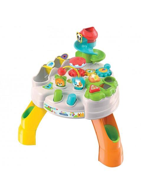 Clementoni- Baby Tavolo attività Parco degli Animali 12+ Mesi Multicolore 17300