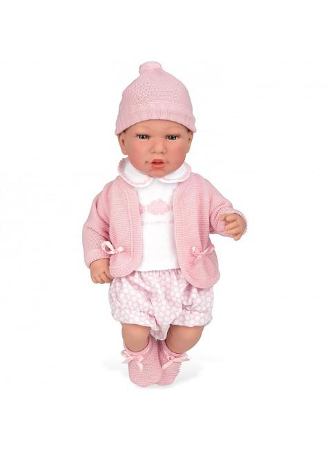 Giochi Preziosi Bambola Arias Rosa 40 cm Morbida Realistica con Cappellino Bimba