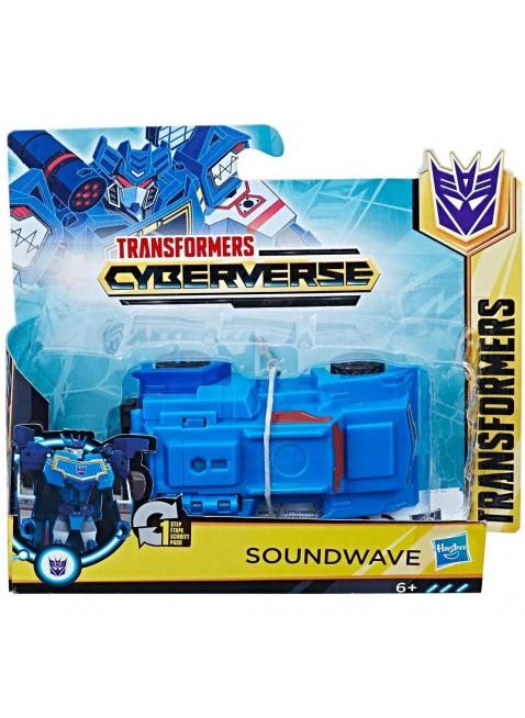 Transformers Cyberverse 1-Step Soundwave di Hasbro E3524-E3522 modalità camion