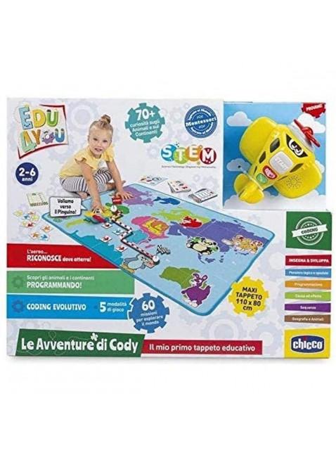 Chicco Tappeto Gioco Bambini Educativo Le Avventure Capitan Cody Maxi 110x80cm