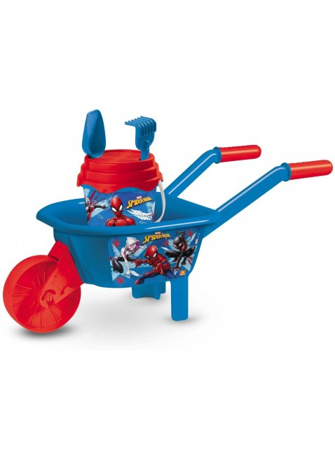Mondo Toys Spiderman Wheelbarrow Set Carriola + Set spiaggia per Bambini