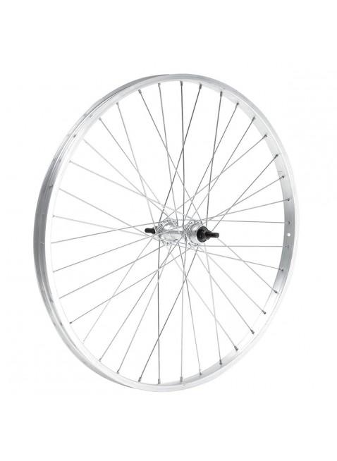 Cerchio ruota anteriore bici city bike 28 x 1-5/8 alluminio mozzo acciaio dadi