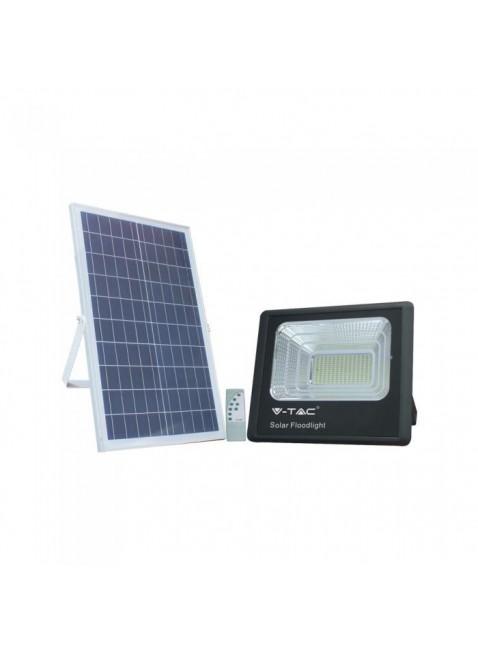 Proiettore Pannello a Ricarica Solare a Led Luce Bianca Fredda 6000K 35W 2450 Lm