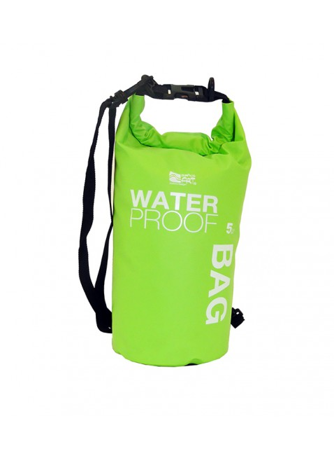 Borsa Zaino Sacca Waterproof Impermeabile Stagna da 5 Litri Mare Piscina Verde