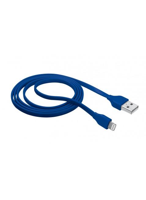 Cavo 1 Metro per Iphone Lightning Colore Blu Antigroviglio Resistente Trust
