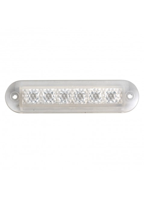 Barra Striscia Luce bianca Led 100x25 mm In plastica Per interni Esterni barche