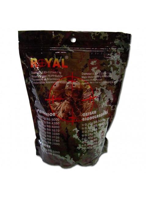 Pallini Softair Nero 0.36 gr 1 Kg Munizioni Biondegradabili 2780 bb Diametro 5.93