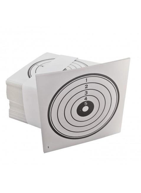 Confezione 100 Bersagli in cartoncino bianco 14x14 cm Bersaglio Softair