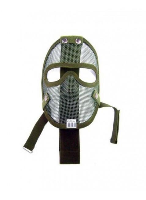 Maschera Intera a Rete in Alluminio con Imbottitura Softair Caccia Verde Sport