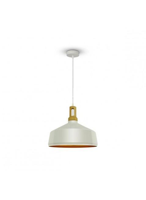 Lampadario Portalampada Effetto Legno Moderno Attacco E27 Bianco Illuminazione