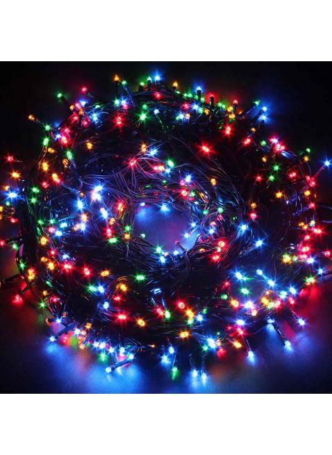 600 Mini Lucciole Luci di Natale per Presepe Albero Multicolore Rgb Luminoso