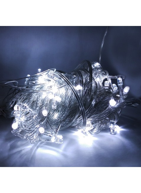100 Mini Lucciole Luci di Natale per Presepe Albero Bianco Freddo Luminoso