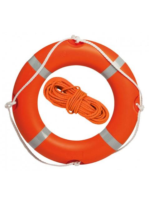 Salvagente Anulare Arancione e Cima da 30 Metri per Mare Piscina Salvataggio