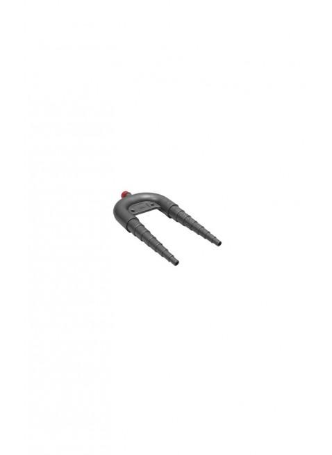 Sifone per Water Wc in Plastica Nero con Valvola di Sfiato 28x15,8cm Idraulica