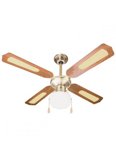 Ventilatore da parete soffitto in legno con luce lampada 3 for Ventilatore a pale da soffitto silenzioso