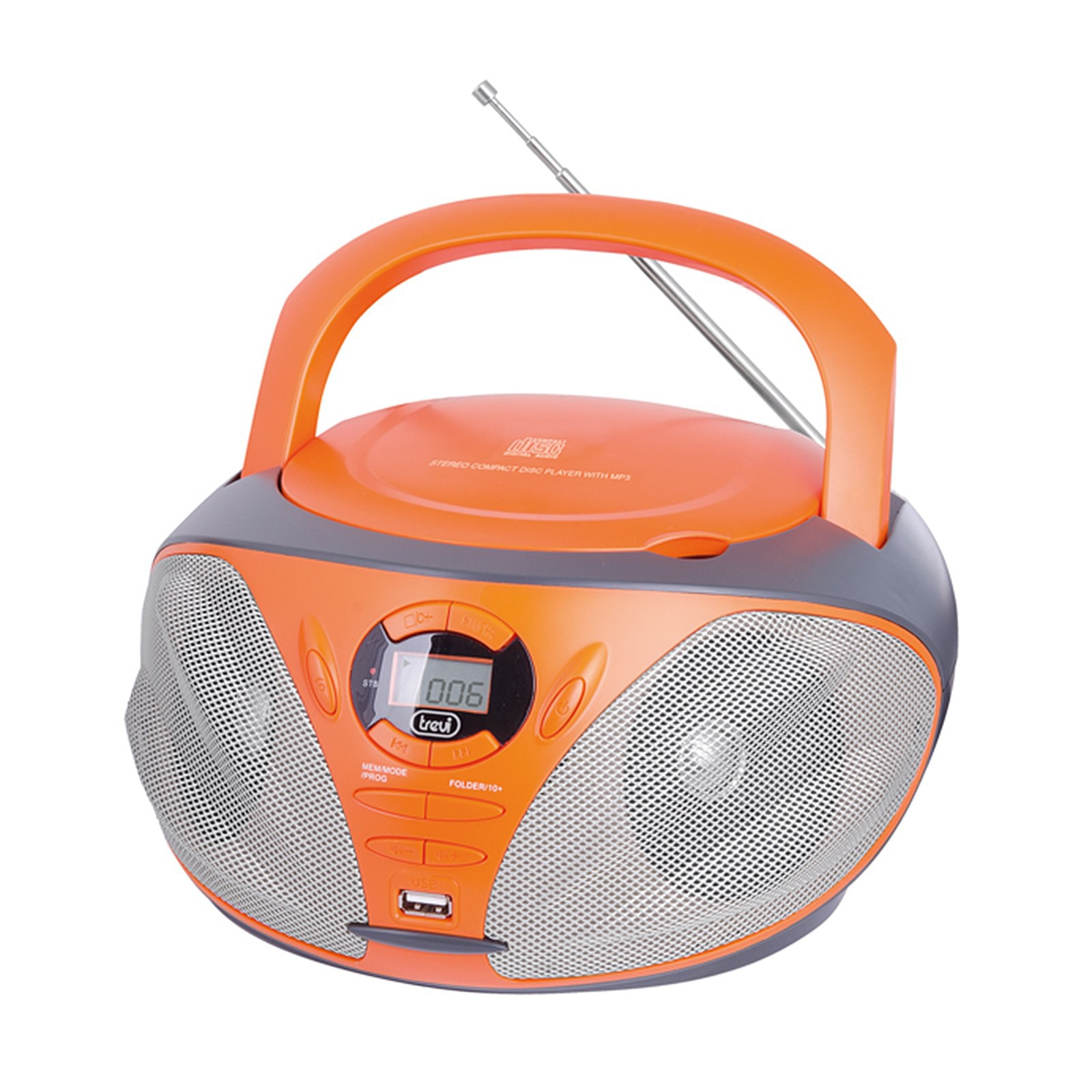Radio stereo portatile cd ingresso usb radio am fm aux for Radio con chiavetta usb