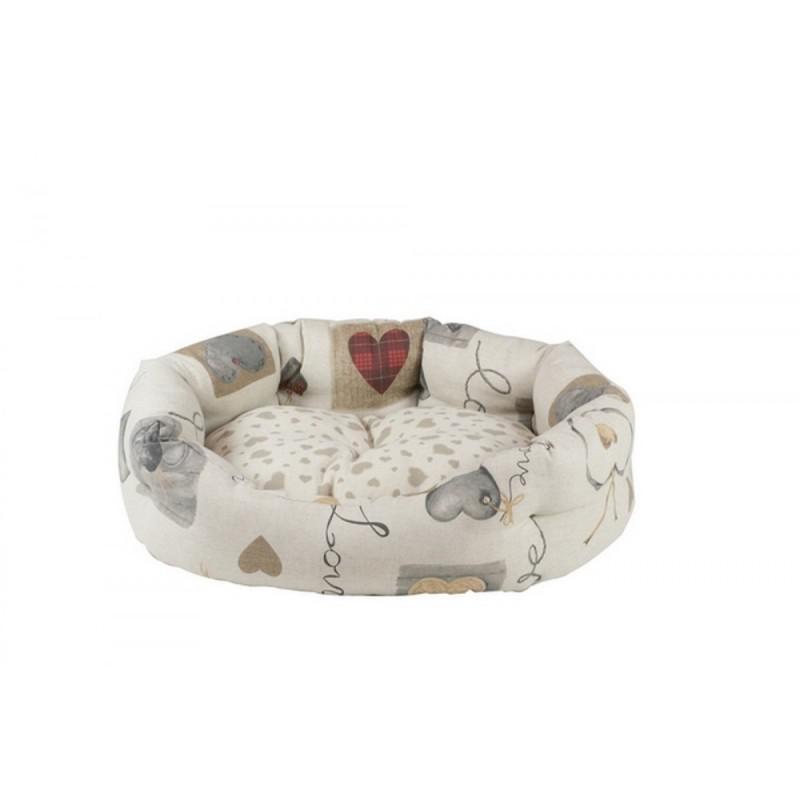 cuccia cane gatto ovale morbida love trixie 60x52
