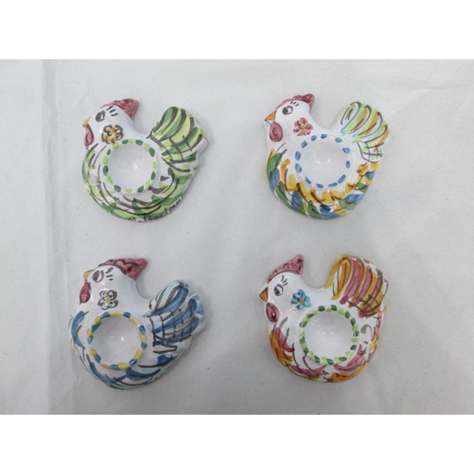 Porta uova in vari colori in ceramica di caltagirone for Porta uova