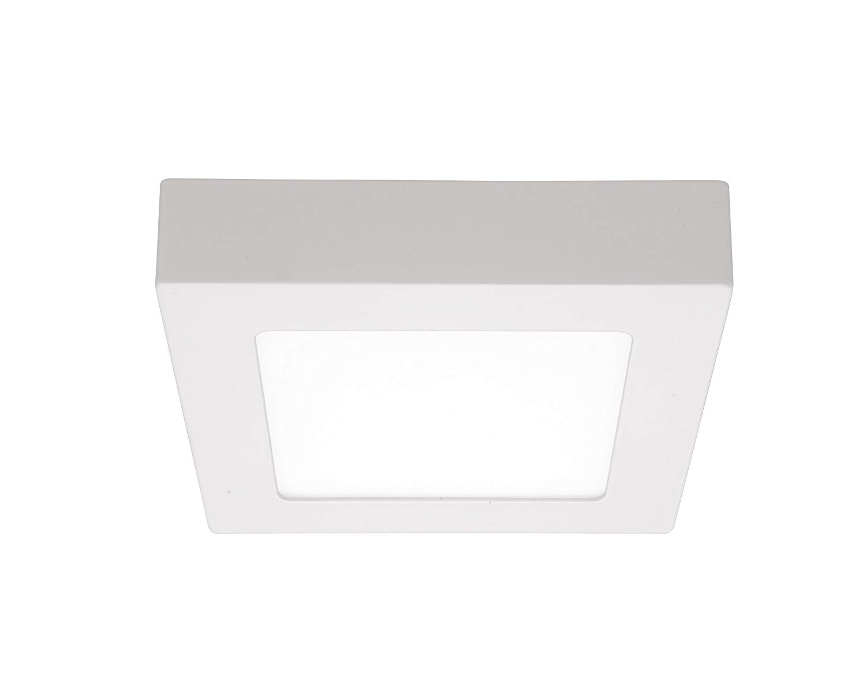 Plafoniere Per Interno A Led : Plafoniera led incasso luce calda alluminio bianca k lm
