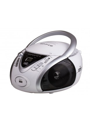 Stereo portatile Trevi Cd Mp3 Radio Cuffia Ingresso USB Bianco 220x240x130mm
