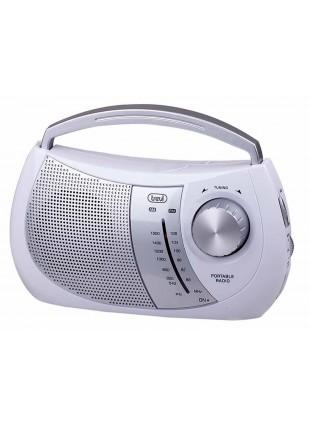 Radio portatile Trevi Amfm Bianco Speaker 2 bande Audio Presa cuffia Auricolari