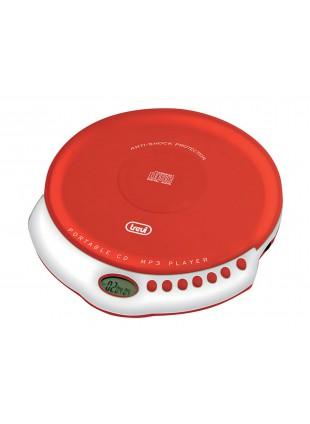 Lettore Cd portatile Trevi Riproduttore suono Rosso Display LCD Player Audio Mp3