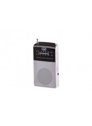 Radiolina Mini radio portatile Trevi Micro Audio Cuffie Speaker integrato Bianco