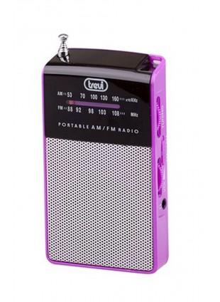 Radio portatile Am/Fm In Vintage Speaker Presa cuffia Trevi 57x97x20 mm Fucsia
