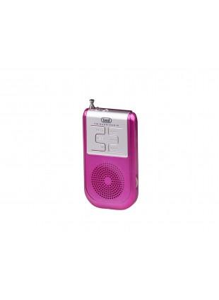 Radio portatile AM FM Radiolina Trevi Torcia led Cuffia Altoparlante Fucsia