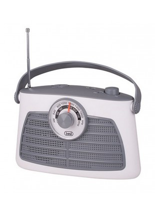 Radio portatile Am/Fm In Vintage Speaker Presa cuffia Trevi 210x140x80mm Bianco
