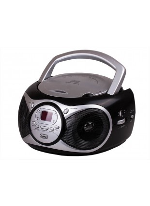 Lettore Cd portatile Player Mp3 X Iphone Radio Fm Trevi Aux In Schermo Led Nero