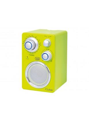 Radio portatile Per Mp3 Banda FM AUX Trevi Giallo Cuba Con LED 165x95x42 mm