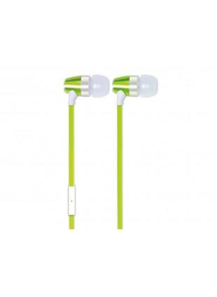 Mini cuffia Ergonomica Trevi Microfono Gomma Verde Auricolari High technology