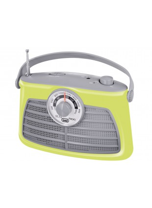 Radio portatile Am/Fm In Vintage Speaker Presa cuffia Trevi 210x140x80mm Verde