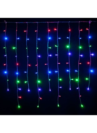 Tenda Luminosa 3 Metri 280 Led Luci Addobbi di Natale Luce Multicolor