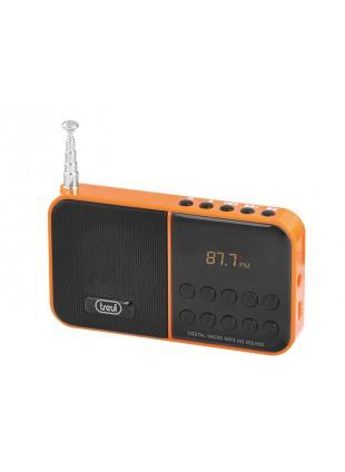 RADIO STEREO RADIOLINA PORTATILE CON LETTORE MP3 MICRO SD CASSA TREVI ARANCIONE